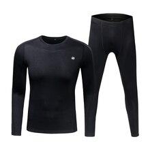 Breathable Thermal Underwear Fleece Long Johns Base Layer Top & Bottom Set