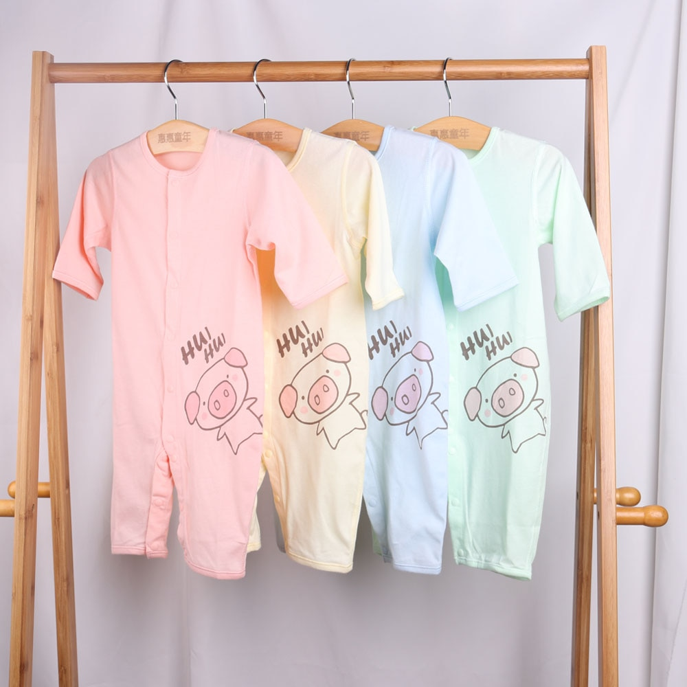 baby clothes 100% Cotton Cute piggy pattern Newborn clothes  Four-piece suit pelele bebe verano Comfortable bodysuit