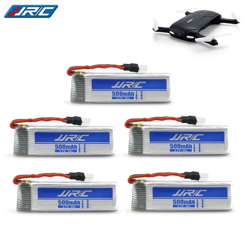5pcs/lot 3.7V 500mah 20c For JJRC H37 E50S E50 Lipo Batteries for Wltoys V930 V977 V988 RC Helicopter Drone Spare Part