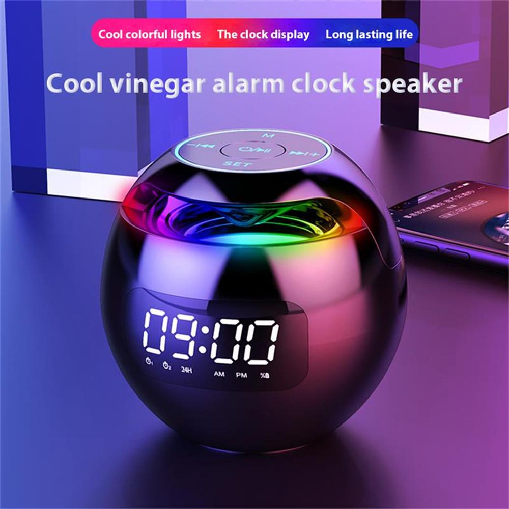 Wireless Bluetooth 5.0 Speaker Portable Outdoor Loudspeaker Sound Box With LED Display Alarm Clock Bluetooth TF Card Play