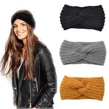 New Knitted Knot Cross Headband for Women Autumn Winter Girls Hair Accessories Headwear Elastic Hair