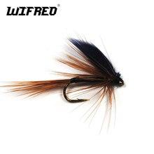 Wifreo 10 pièces 10 # pêche à la mouche truite aile noire marron Mayfly