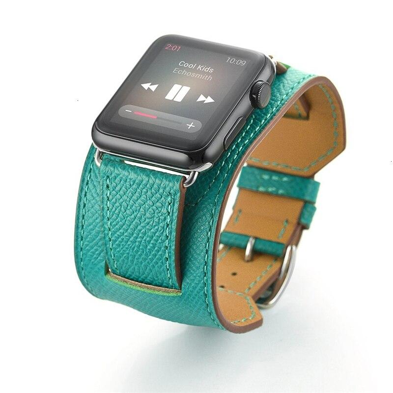 Couro de vaca pulseira para apple watch 5 banda 44mm iwatch pulseira série 4 3 2 1 pulseira inteligente 42mm loop 38mm substituição 40mm