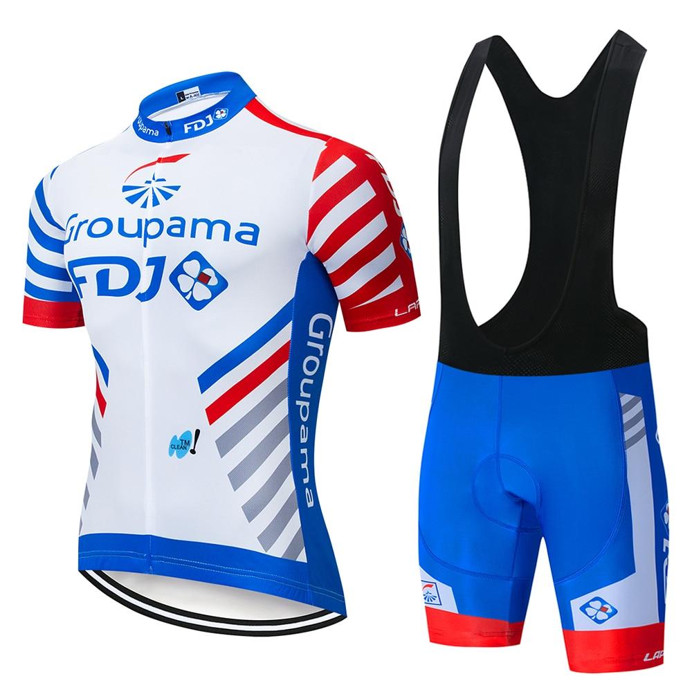 ¡Novedad de 2020! Camisetas de Ciclismo Pro team groupama FDJ, maillot transpirable, Ropa de Ciclismo MTB, Ropa de manga corta para bicicleta de GEL 19D