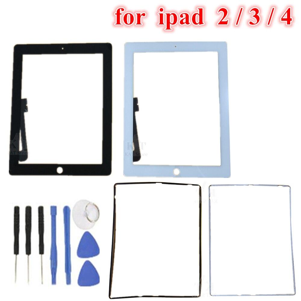 "Tela touch para ipad 2 a1395 a1396, digitalizador frontal, touch screen, 1 peça, 9.7 "", moldura para ipad 3 a1416 a1430"