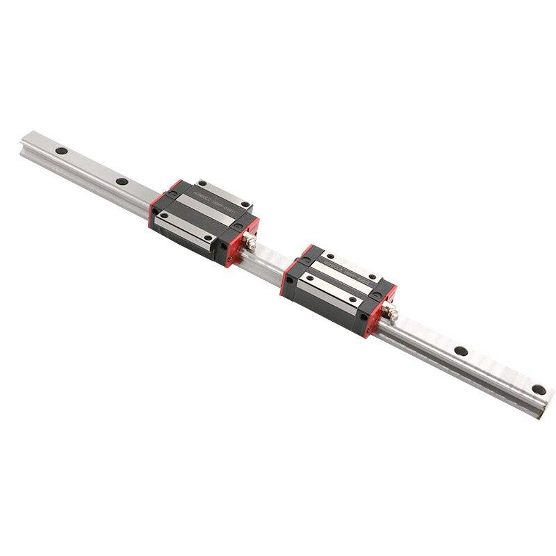 Cnc guías lineales 15mm HG15 L1250/1300/1350 2pc + carril de guía lineal y carro bloque guía HGH15CA /HGW15CC 4 Uds