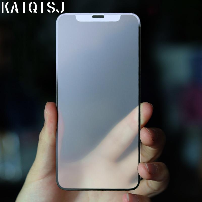 KAIQISJ AG מט מגן זכוכית עבור iphone 12 פרו מקסימום 12 מיני מסך מגן עבור iphone 6 7 8 בתוספת xs max xr מסך הגנה