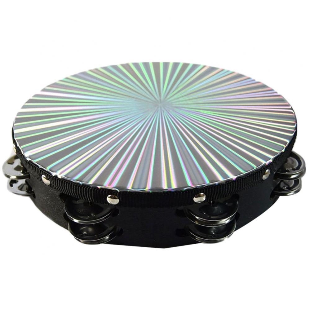 8/10 Inch Tambourine Double Row Metal Jingle Bells Percussion Musicfashion Instrument facility Tambourine