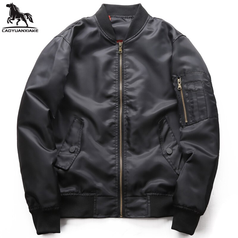 Куртка мужская демисезонная, Новая ветровка, мужские куртки, однотонная бейсбольная форма, куртка-бомбер, повседневная мужская куртка, Женс...