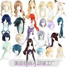 Game Genshin Impact Cos Play Wig Amber Lisa Kaidi Luke Wendy Mona Heat-resistant Synthetic Hair Wig