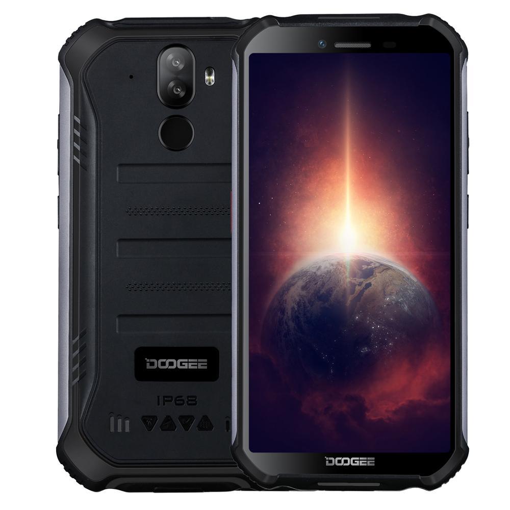 DOOGEE S40 Pro прочный мобильный телефон Android 10 MTK6762D Восьмиядерный 4 Гб Оперативная память 64 Гб Встроенная память 5,45 дюйм IPS 18:9 Дисплей 16MP Камера 4650 мА/ч,...