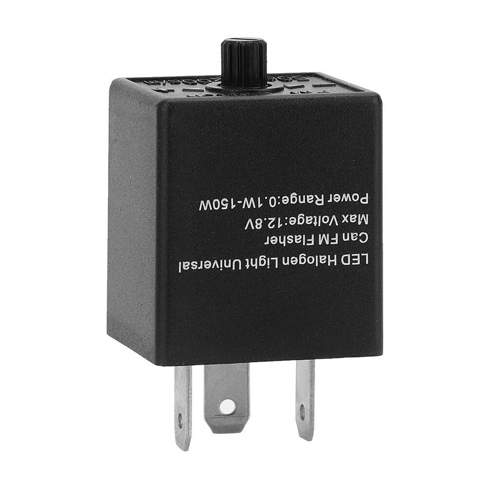 3-pino led flasher relé ajustável turn signal lâmpada piscando freqüência universal para 12 v 24 v automóveis e motocicletas