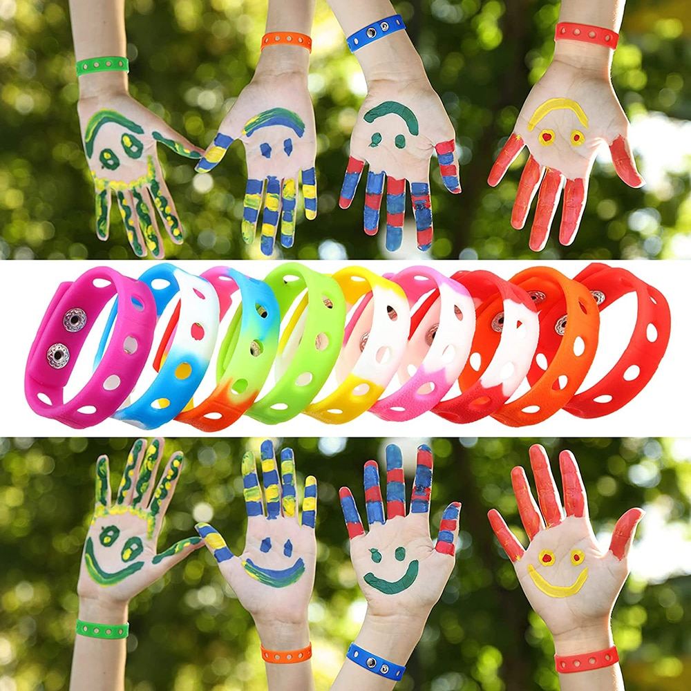 7 Inch Kids Bracelets for Shoe Charms Adjustable Cute Wristband for Boys and Girls Birthday Gifts Pa