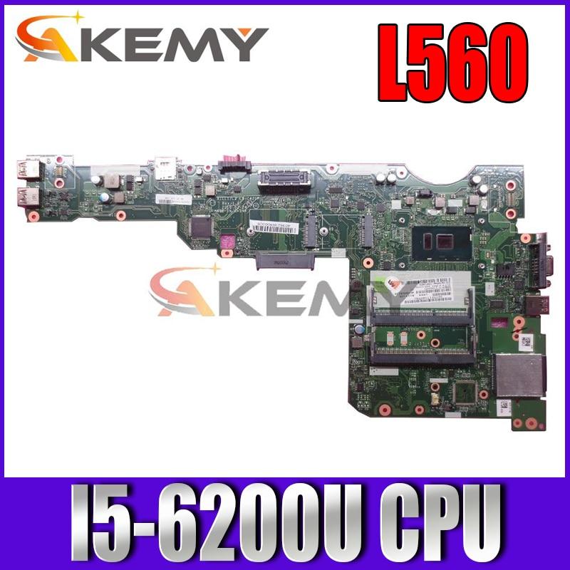 لينوفو L560 اللوحة 01LV947 01AY818 00UR181 01LV944 00UR709 01LV945 00UR710 00UR183 LA-C421P I5-6200U CPU DDR3L
