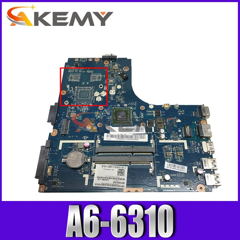 Laptop motherboard For LENOVO Ideapad B50-45 A6-6310 AM6310 Mainboard ZAWBA/BB LA-B291P 5B20G36755
