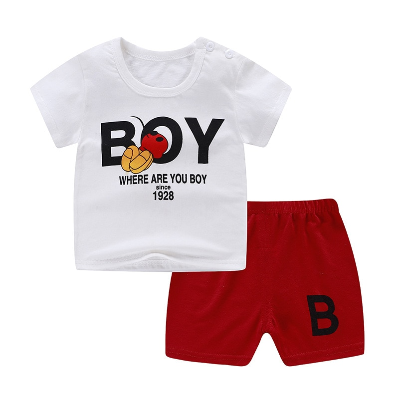 fashion striped kids girls clothing sets summer newborn baby girls clothes cotton tops pant children clothes suits 1 5 years Newborn Clothing Sets Summer Baby Boys Girls Short Sleeve Suits Cotton Underwear Tops+ Short  2pcs Kids Clothes Outfits A0092