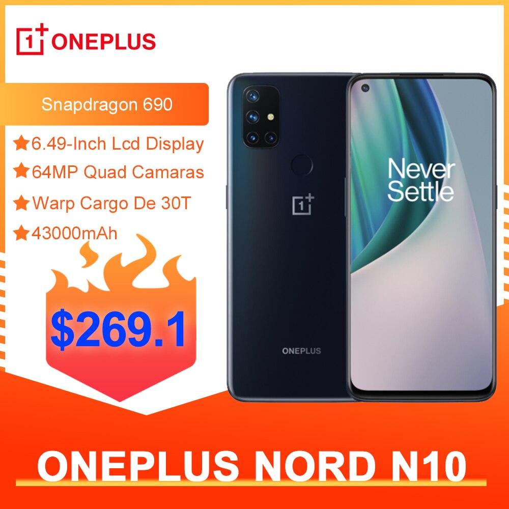 Перейти на Алиэкспресс и купить Чехол из ПВХ для OnePlus Nord N10 5G глобальная версия 6 ГБ 128 Snapdragon 690 смартфон 90 Гц Дисплей 64MP Quad камеры Warp 30T NFC