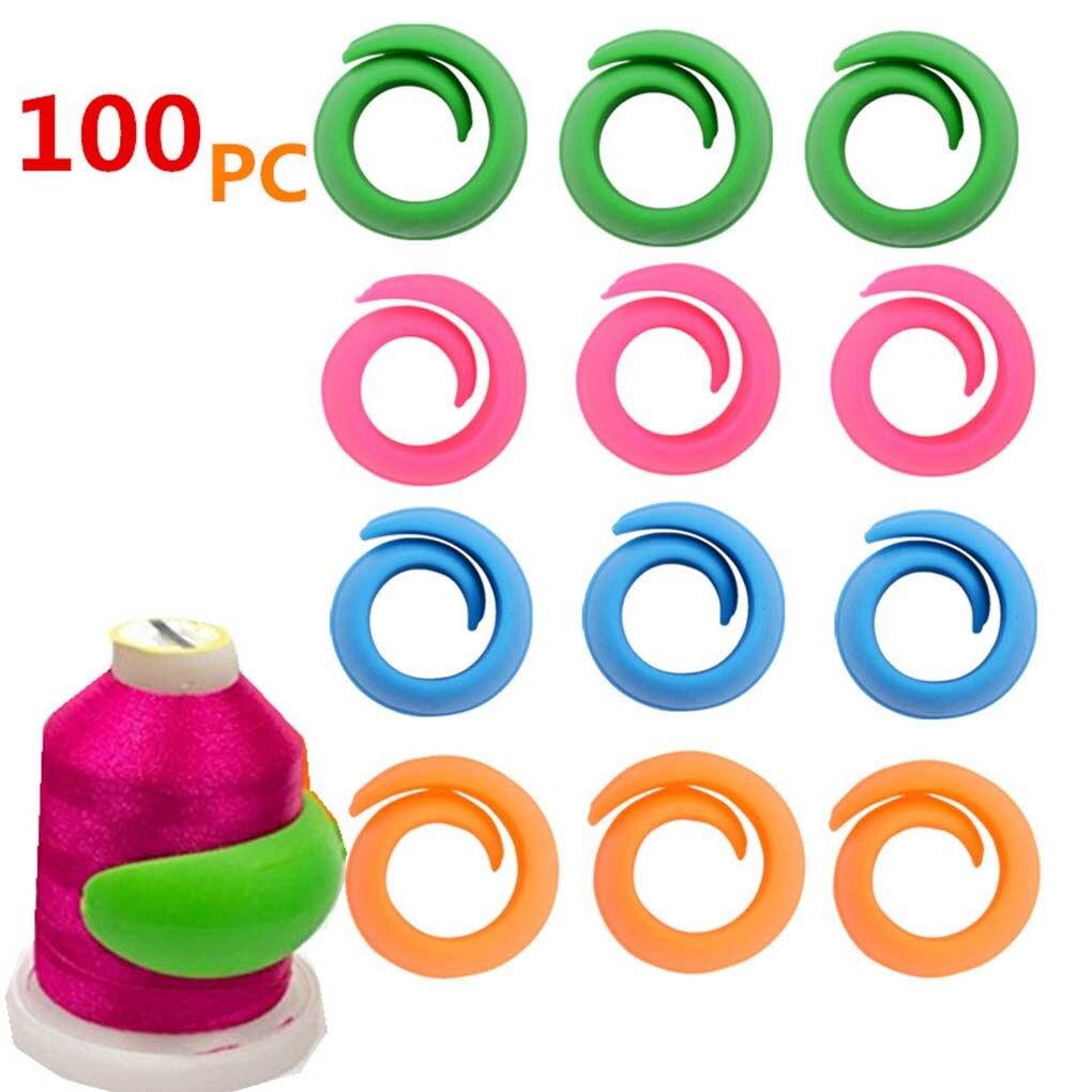 24/100pcs Thread Spool Huggers Bobbin Clamps Holders Embroidery  Bobbin Clip Silicone Clamp Silicone Sewing Accessories