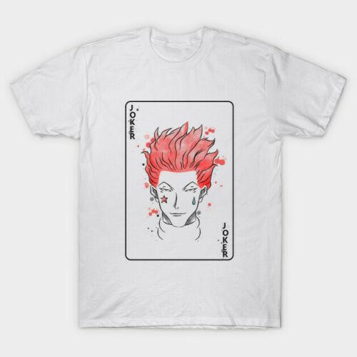 Hunter X Hunter Die Clown Hisoka Joker Karte Weiß T-Shirt für Manga Anime Fan Heißer Verkauf Baumwolle T Shirts Top tees