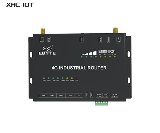 4G  RS485 WIFI Industrial Router Data Transmission Station Modbus Modem AT Command Ethernet WLAN LAN APN VPN E880-IR01 XHCIOT