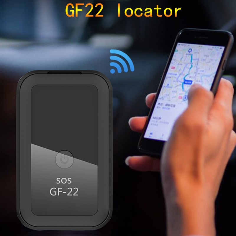 GF22 Car GPS Tracker Strong Magnetic Small Location Tracking Device Locator For Car Motorcycle Truck Recording For Sos Alarm