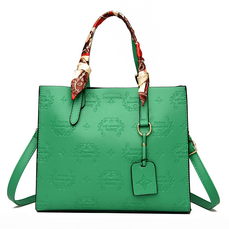 حقائب يد مطبوعة حقائب كتف خضراء كبيرة للصيف والشاطئ متسوق من الجلد متسوق حقائب يد للتسوق فخمة للسيدات