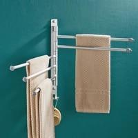 towel rack wall mounted bathroom rotatable towel holder 2345 bar kitchen shelf towel hanger bathroom accessories no punch