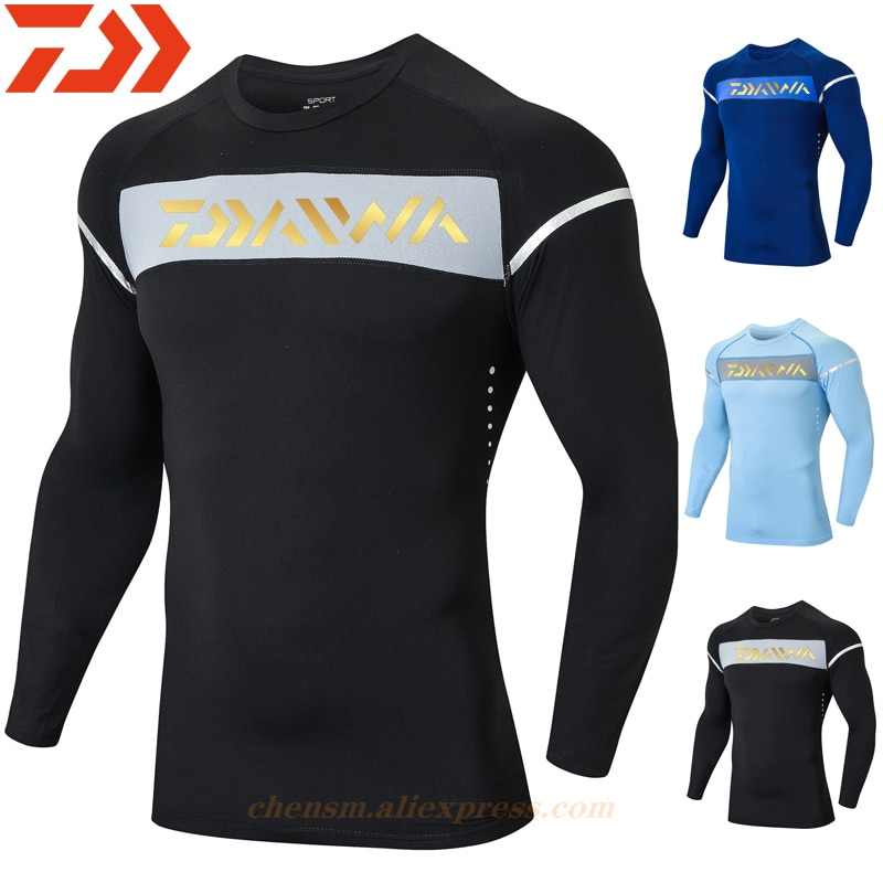 Daiwa Fishing Clothes Anti-UV Outdoor Quick Drying Ventilation Sunscreen Long-sleeved Hiking Cycling Clothing Fishing Shirt