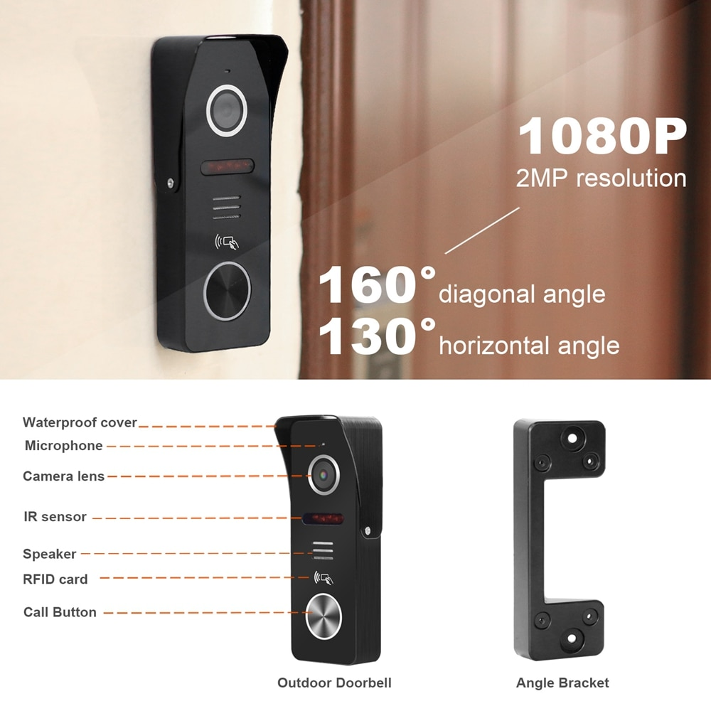 WIFI Video Intercom for Apartment Multi Monitors 10 Inch Wireless  TUYA Smart Phone Door Intercom System 1080P Call Panel Camera enlarge