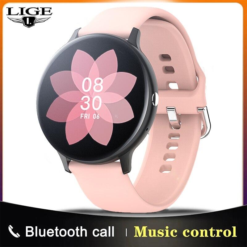LIGE 2021 New Smart watch Ladies men Full touch fitness tracker Blood pressure sleep smart clock lad