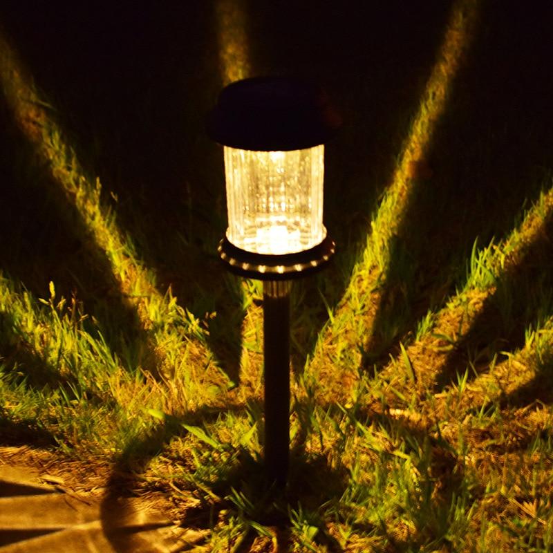 Solar light LED cylindrical lawn lamp outdoor waterproof garden courtyard park path corridor lawn decorative 1/3 pcs