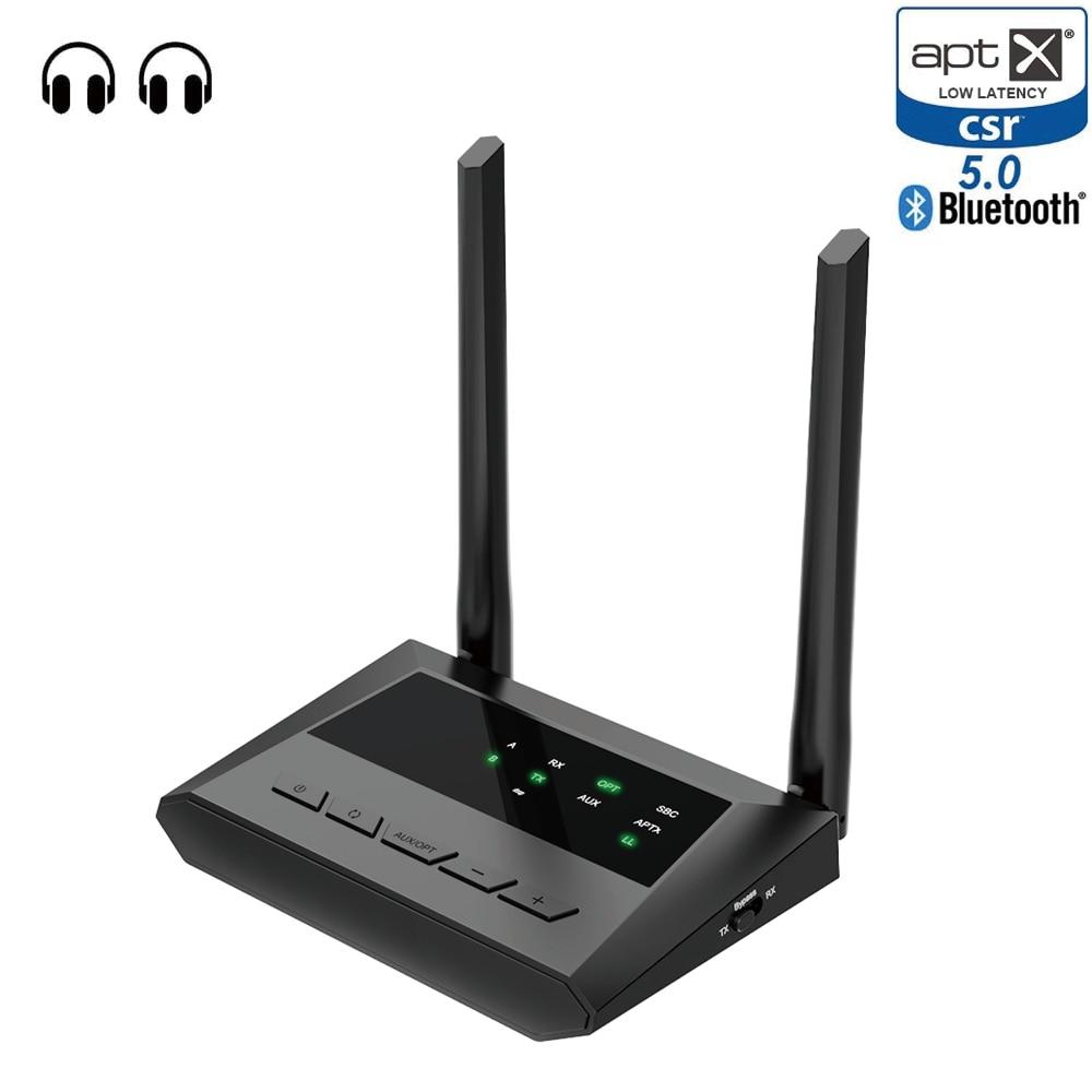 Bluetooth Aptx 5,0 LL baja latencia óptica SPDIF Toslink RCA Aux 3,5mm transceptor receptor inalámbrico A2DP Audio música TV adaptador