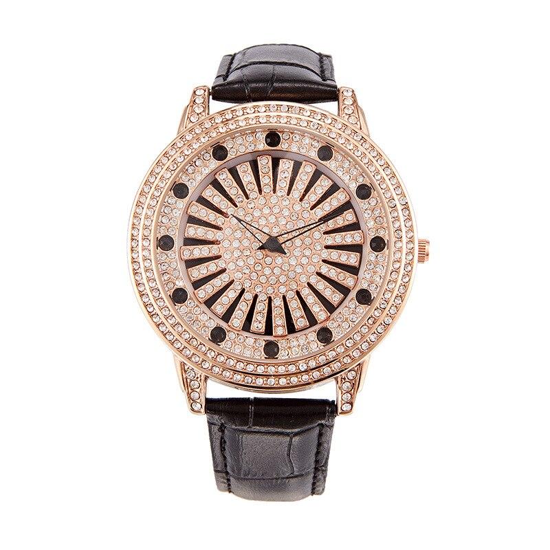 Fashion Luxury Women Watch Big Dial Rose Gold Rhinestone Quartz Ladies Wristwatch 360 Degree Rotating Dial Relógio Femino Clock