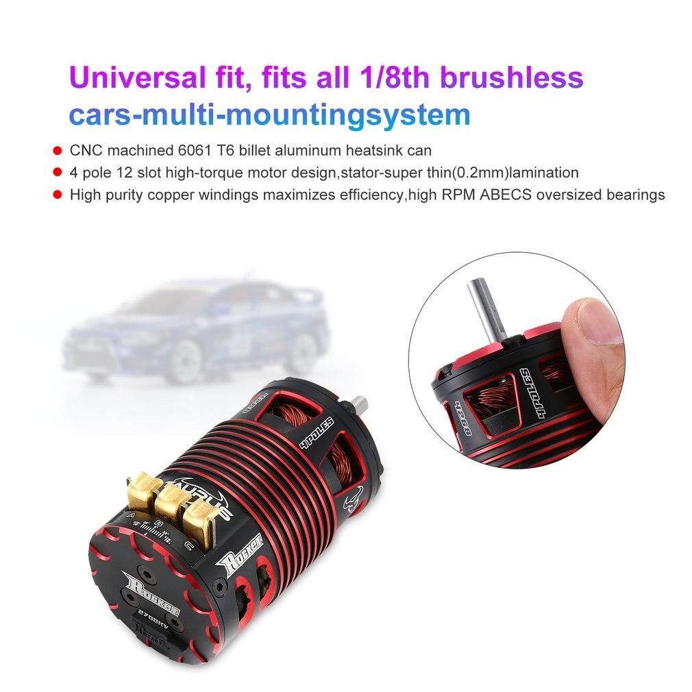 Rocket 4268 2700KV Brushless Sensored Motor 4 Pole RC Car Motor For 1/8 Electric on road Car Parts enlarge