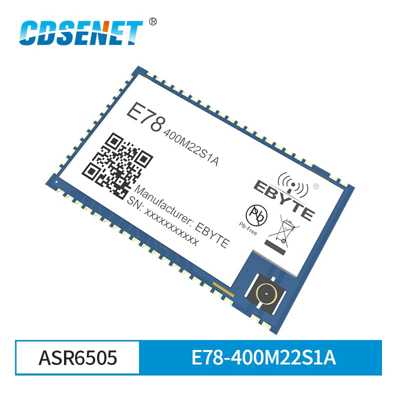 ASR6505 LoRa LoRaWAN E78-400M22S1A 433MHz SoC SX1262 STM8L152 MCU LPWAN SMD mucho transceptor IPEX