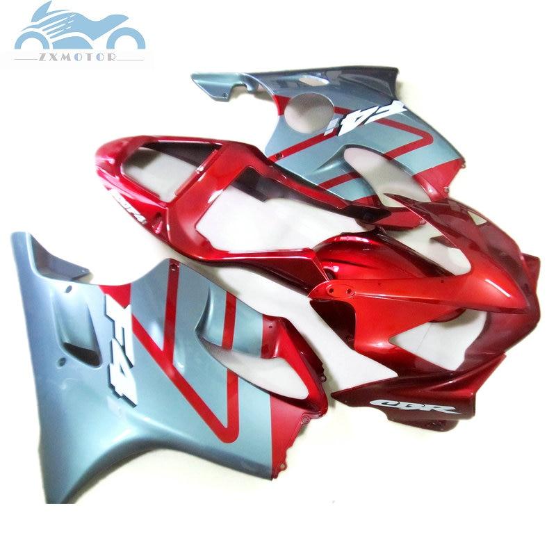 Livre presentes 7 600F4i Injeção kit carenagem apto para Honda CBR 2001 2002 2003 CBR600F4i 01 02 03 vermelho prata kits de carenagem peças HT06