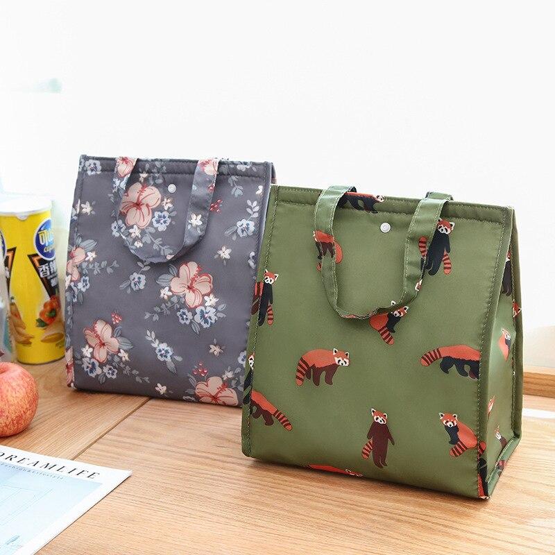 Bolsa plegable impermeable de la caja de Bento de la mano bolsa de almuerzo de flamenco bolsa térmica bolsa de almuerzo bolsa de Picnic bolsa de almacenamiento