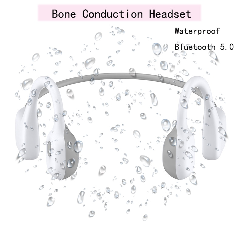 De alta calidad auriculares de conducción ósea deportes inalámbrica Bluetooth 5,0 auriculares con micrófono de carga magnética anti-sudor impermeable