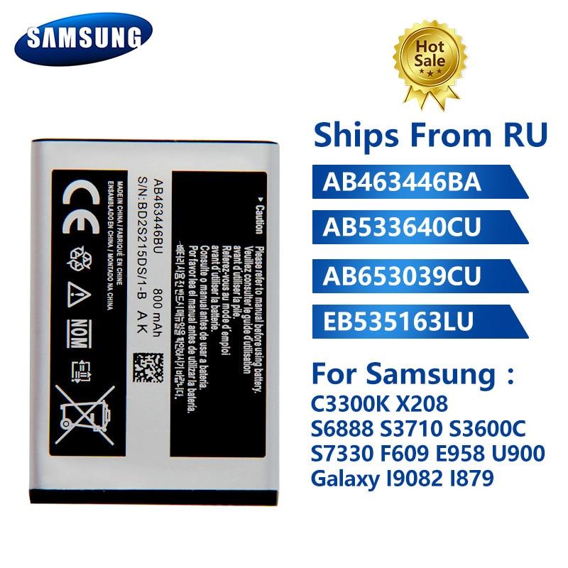 Original Phone Battery AB463446BA For Samsung C3300K X208 S6888 S3710 S3600C G500 S7330 F609 E958 U900 I9082 I879 I9118 i9060