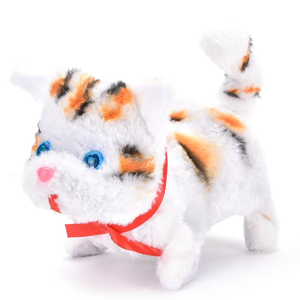 Electric Cat Toy Hot Selling Cute Sound Walking Plush Electronic Pets Children Kids Educational Toy