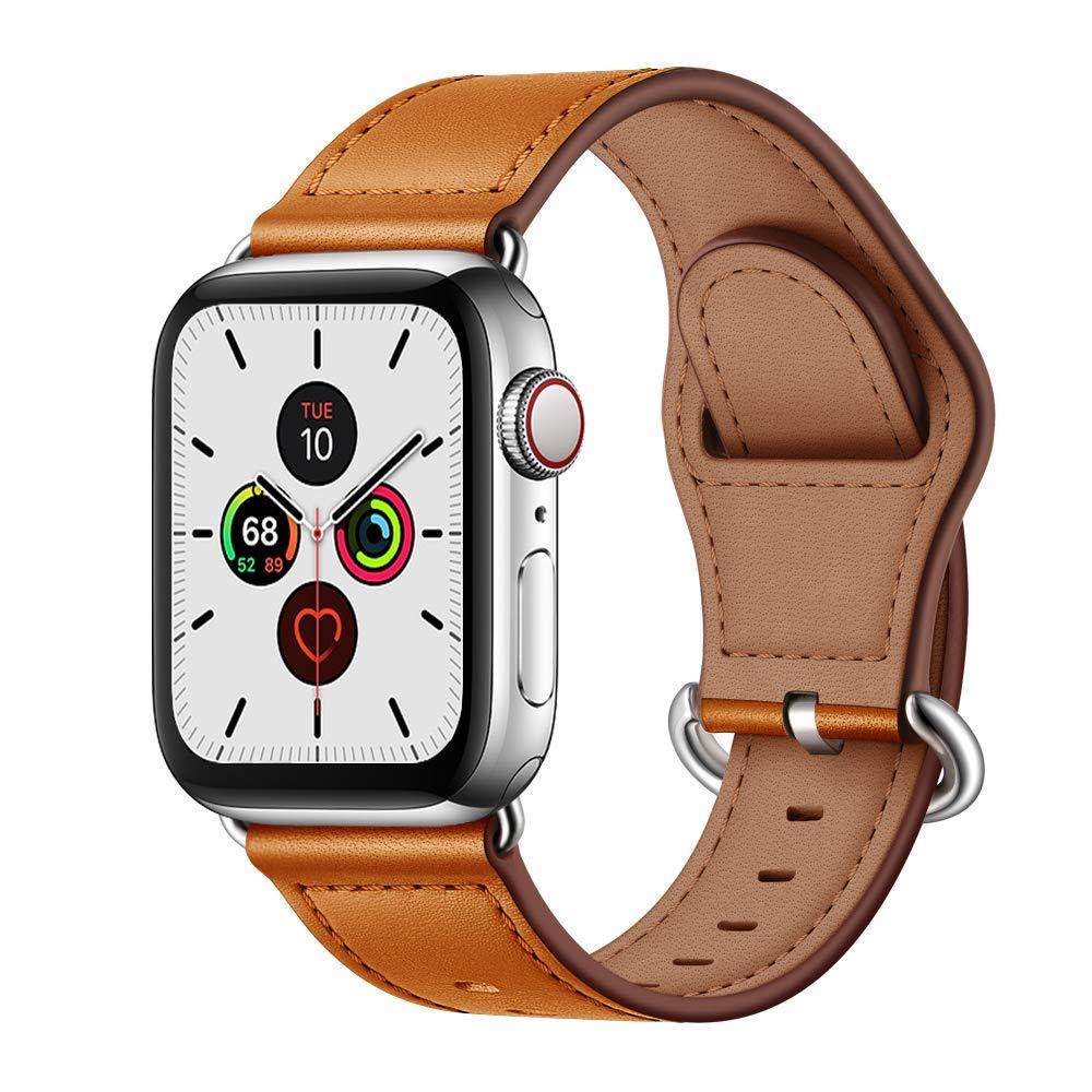 Correa para Apple watch banda 44mm 40mm iWatch banda 42mm 38mm correa de cuero genuino correa de reloj Apple watch serie 5 4 3
