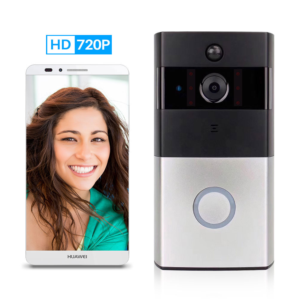 Ring Doorbell With Camera WiFi Video Peephole For Door Wireless Intercom Video Eye Bell Chime Two-Way Audio APP Control Deurbel enlarge