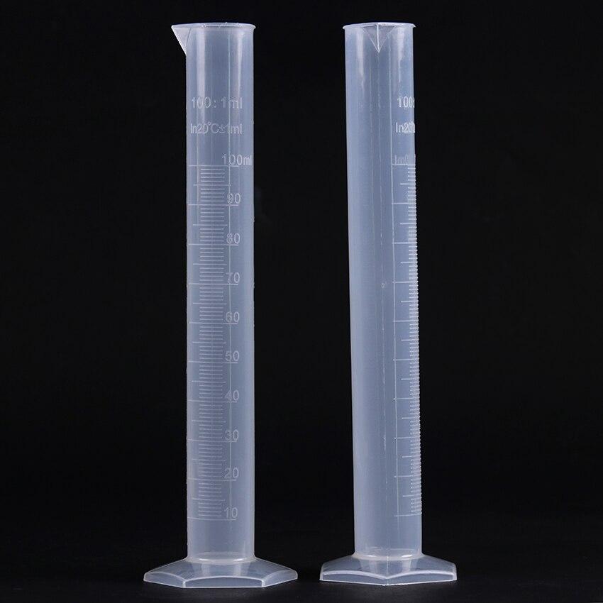 Прозрачная пластиковая градуированная трубка 100 мл измерение жидкости