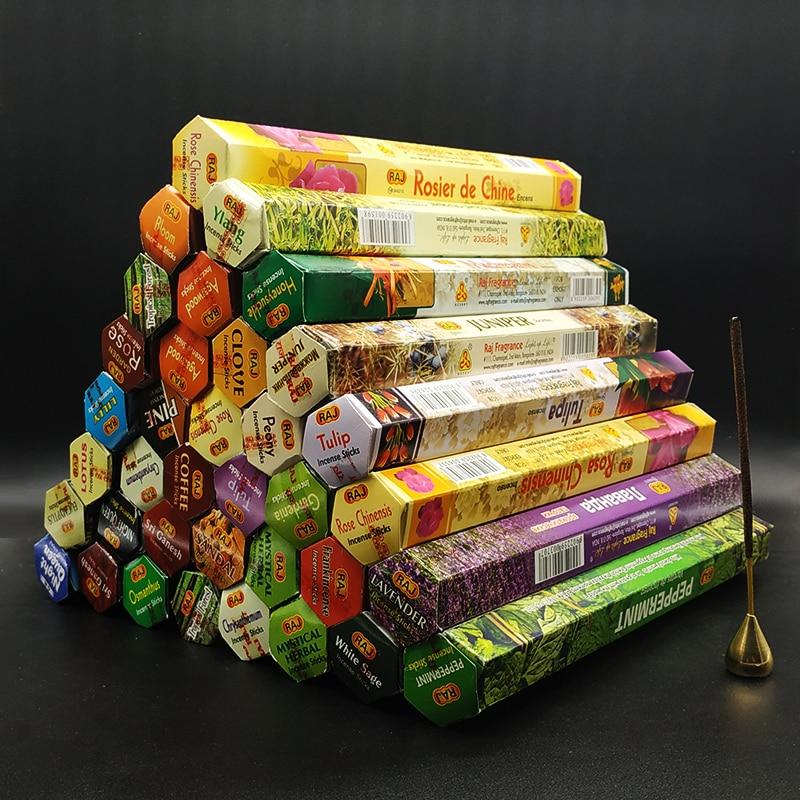 Ароматизаторы T 56, Индийские благовония, ароматерапия ручной работы, палочки, 20 палочек в коробке, сандаловое дерево, лаванда, медитация, бла...