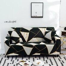 Sofa Abdeckungen für Wohnzimmer Moderne Floral Bedruckte Stretch Schnitts Schutzhülle Polyester L Form Sessel Couch Fall 1/2/3/4 Sitz
