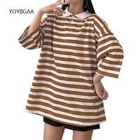 striped women t shirts harajuku summer female tshirt basic tops casual short sleeve ladies girls tshirts oversized woman t shirt