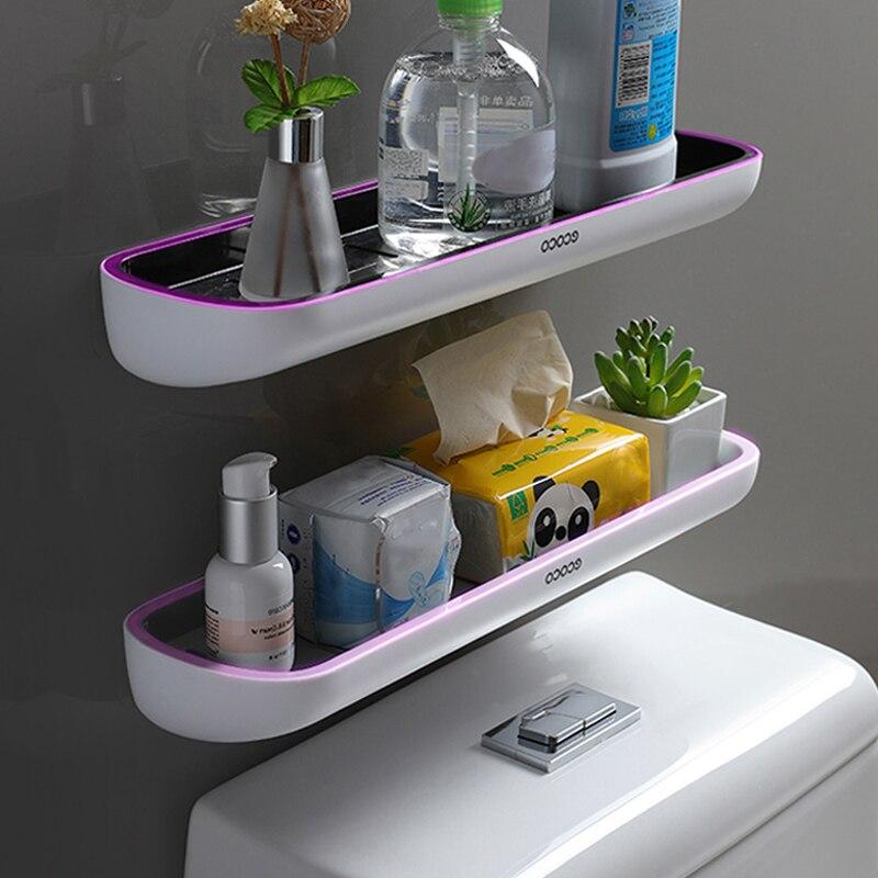 رف الحمام فوق رف تخزين المرحاض رفوف الحائط الفضاء التوقف المنظم للمطبخ WC اكسسوارات الحمام