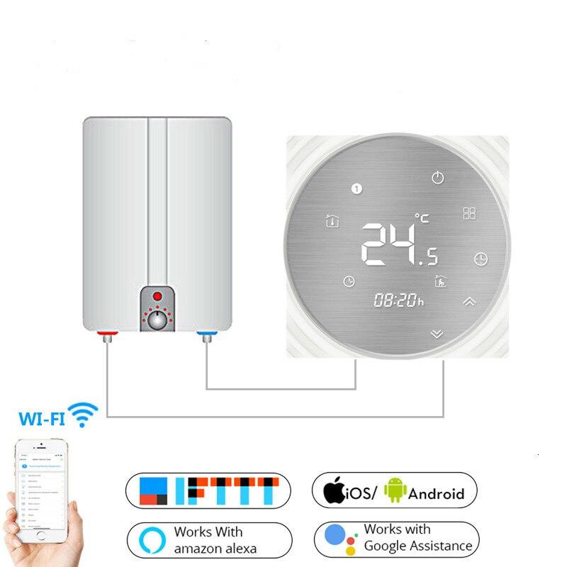 متحكم ذكي في درجة الحرارة ، واي فاي ، غلاية ماء/غاز ، Smart Life/Tuya الأسبوعي ، قابل للبرمجة ، يعمل مع Alexa Google home