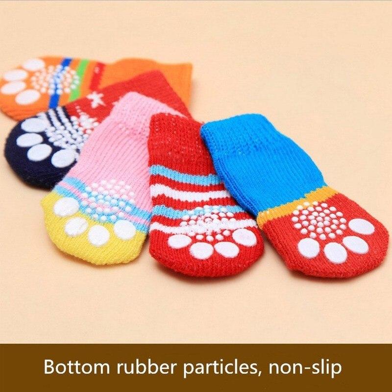 4 шт./компл. для питомцев, зимний, теплый, мягкий кашемир противоскользящие носки для собак сапоги для собак рождественские сапоги