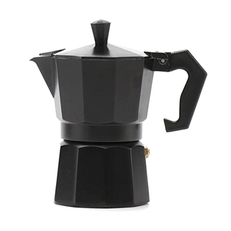 Cafeteira moka de alumínio durável 150ml, cafeteira expresso percolador prático